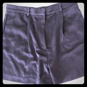 H&M navy satin trouser short